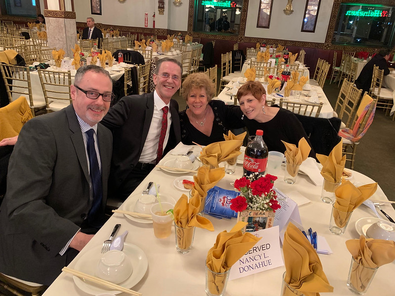 From left, Jim Dyment and Michael Lally, both of Lowell, Erin Noonan-Descoteaux of Londonderry N.H., and Lila Lorrey of Lowell