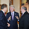 College of Music & Dramatic Arts Dean Laurence Kaptain (right) with President Bill Clinton (center), and Andy Manatos, President of Manatos and Manatos, Washington DC  government relations and public policy company (left).