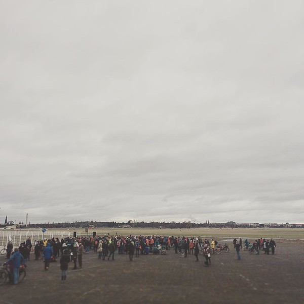 "Civil March for Aleppo - Day 1. On the 26th December 2016, in the second day of Christmas holidays, hundreds of people, mainly gathered by social media appeal, started walking from Berlin airport Tempelhof towards Syria. When it started, the shape of the march was not defined precisely. And It stayed so for the next few months. The general idea was that people could affiliate and leave the march whenever they want. At the time of leaving Berlin the organizers didn't know what will be the end of our journey. It was definitely planned to be a very long demonstration, aimed at raising the awareness of the topic - Syrian war and refugees crisis. Even in the countries the march walked through. <br /> Sebastian Olenyi (one of the organizers) said: ""We try to attract attention on the way. Maybe we can organize some help more. Perhaps we can manage to put more diplomatic pressure on all parties active in Syria. But also on the European politicians. From there it was also often heard: ""My voters are not interested, no one can see the pictures. Why should I get involved? ""If we really get there, or if only a few get more help, or the conflict is over a little earlier, then we've achieved a lot."""
