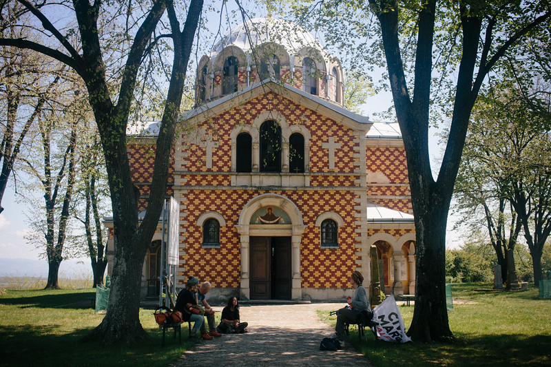 Stop at the beautiful old orthodox church.