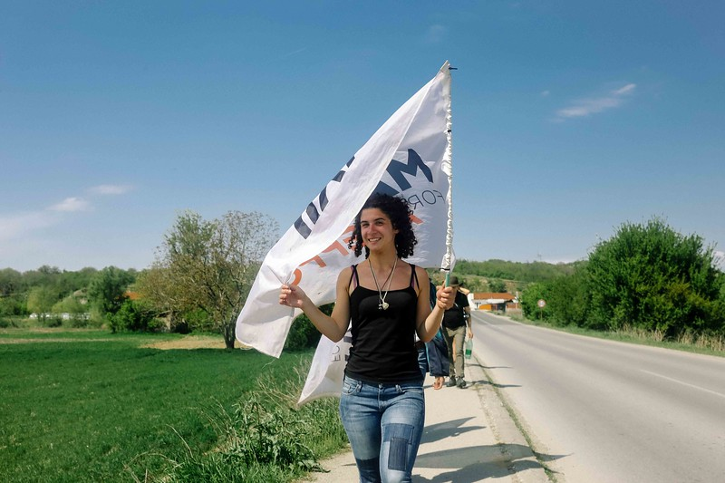 Sara (Italy) with the CMFA flag.