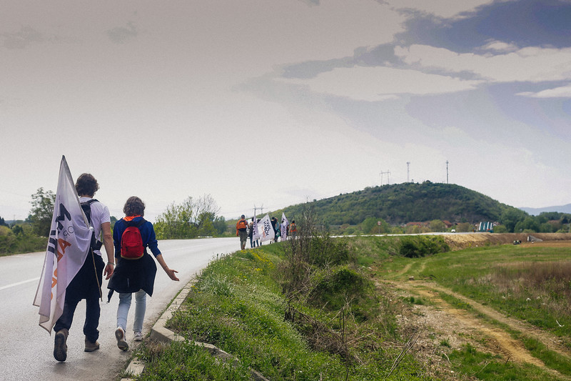Marching to Brestovac, Serbia.