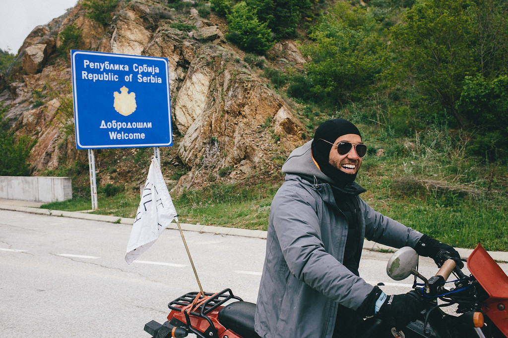 Edgard, used to ride the CMFA motorbike at most. When he left the march to take care about the registration of the CMFA in Turkey, he used the bicycle. After his role was over he abandoned the vehicle (that broke meanwhile) causing a difficulty for the project.