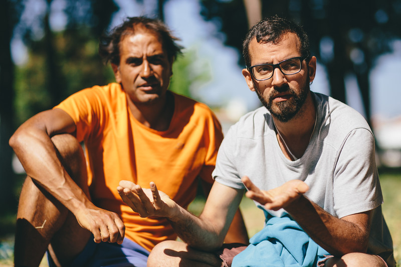 Discussing further plans of the march. Jordi and Juan were convinced that the march will go to Turkey.