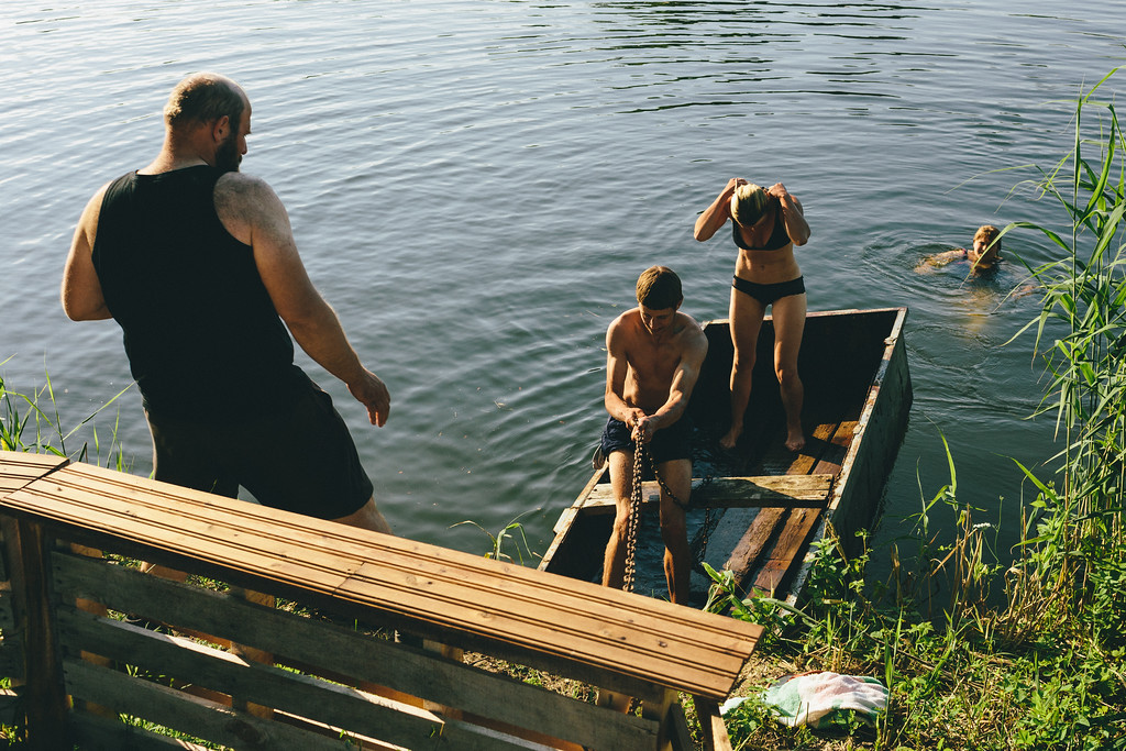 After whole day on the feet, we jumped in to the water with a huge pleasure.