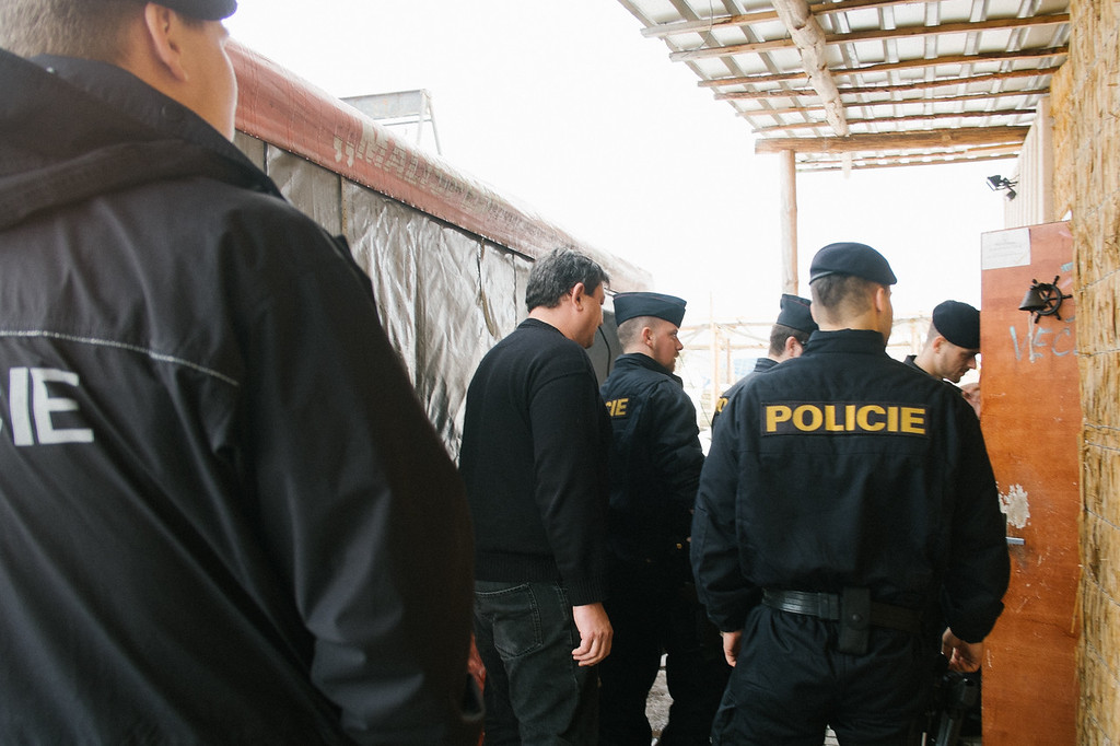 On this day we were secured by an anti terrorsit police squad.