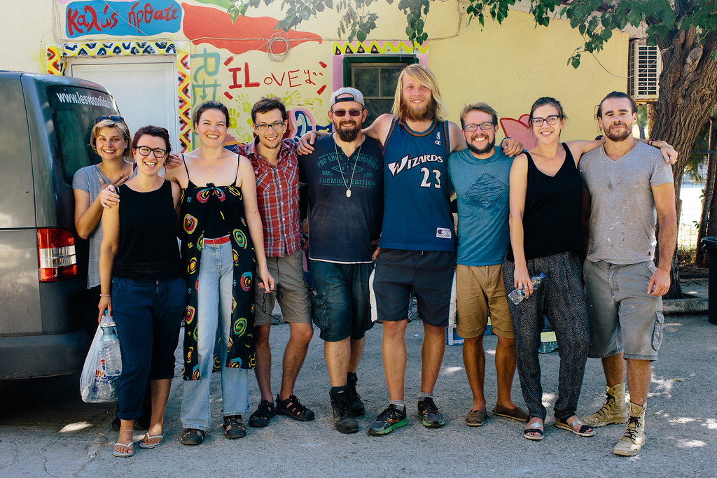 CMFA leaving PIKPA camp, posing to a group photo with camp staff.