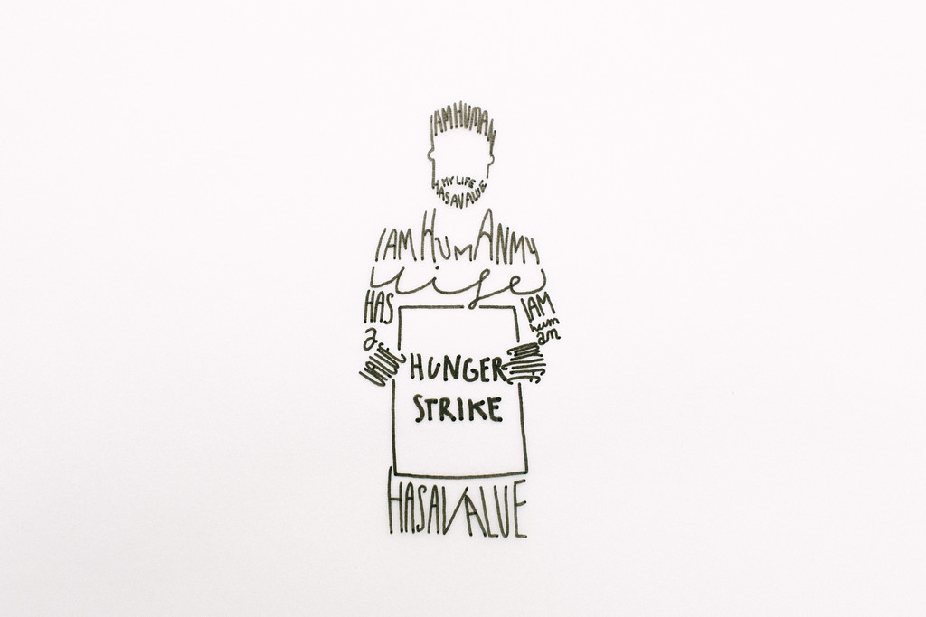 "Wika (Poland) preparred this graphic to support the refugees hunger strike. More of her works can be found at  <a href=""https://www.facebook.com/imponderabilia.ponderabilia"">https://www.facebook.com/imponderabilia.ponderabilia</a>"