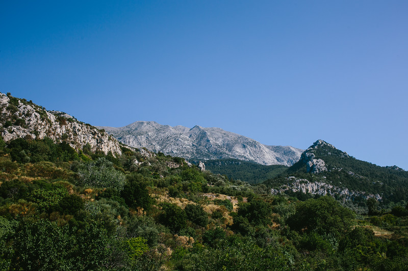 Wild Samos landscape. Highest point on the island is 1436 m.