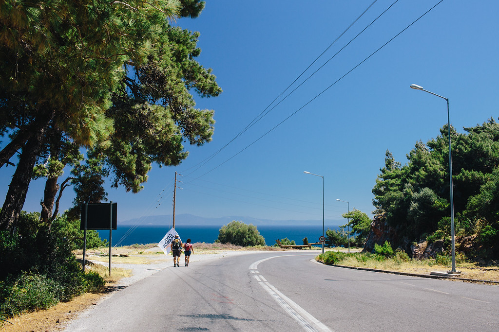 Marching on Samos.