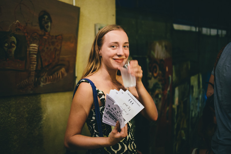 "Felicitas (Germany), our beloved ""princess"" holding CMFA leaflets"