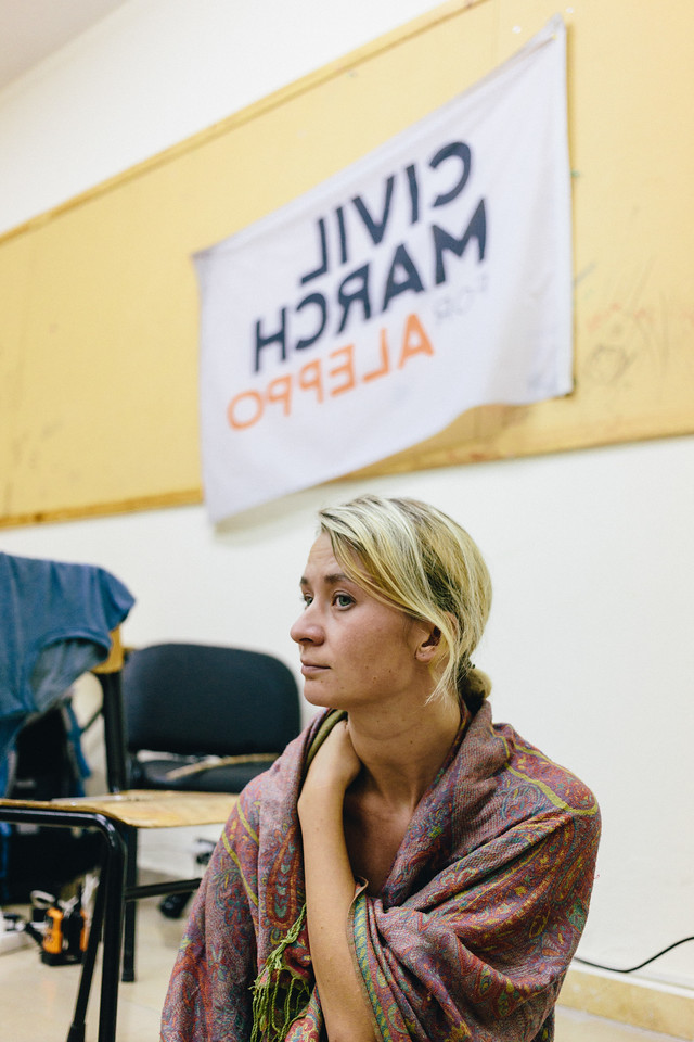 Anna (Poland), the founder of the march, hasn't been with the group for a while. She left the group on 21.06 (Lesvos-Greece) and returned on 27.07 (Beirut-Lebanon). Many people who joined the march while Anna was absent questioned her absence. Accommodating professional and familiy life with marching far away from home was definitely extremely demanding task.