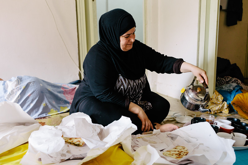 Our lovely Syrian host, prepared perfect breakfest delivered straight to bed. Look at these lovely best lebanese manakish.