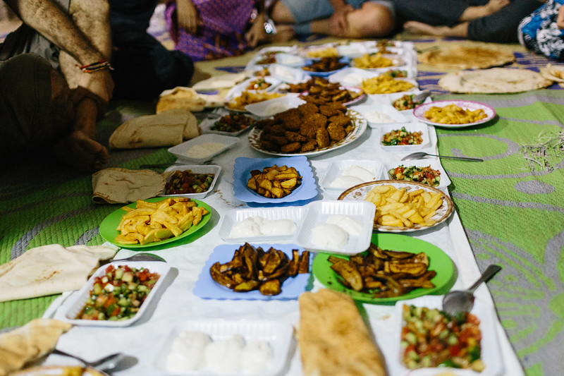 Traditional Syrian supper.