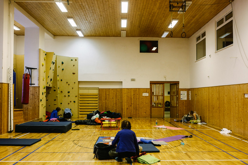 Accommodation spot. Sport hall.