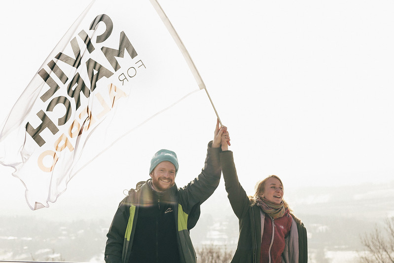 CMFA co-founders: Anna and Jan (both Poland), Kahlenberg hill, Austria.