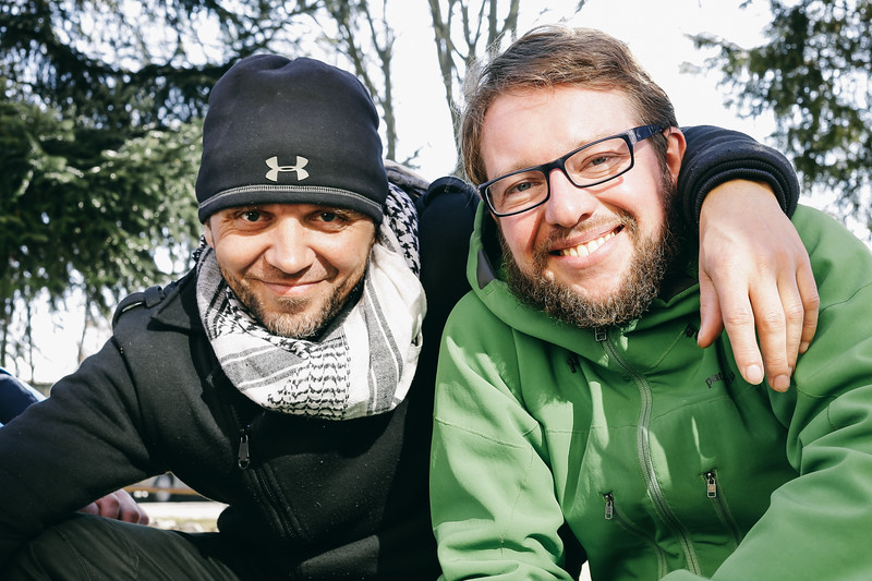 Krystian (Poland) and me.