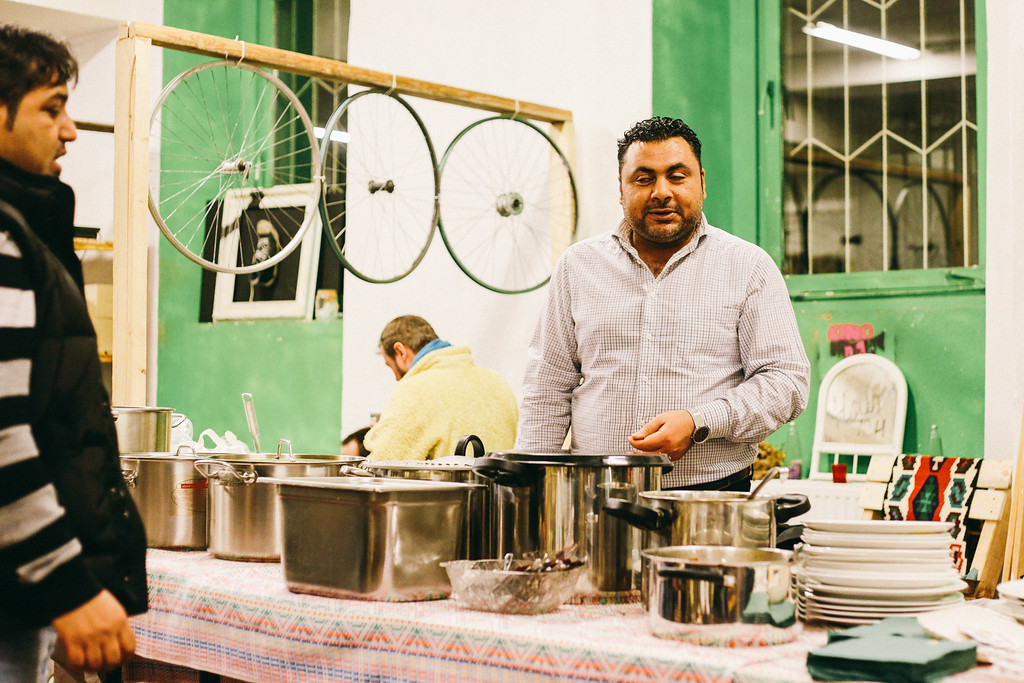 Syrian cook at the event, Graz, Austria.