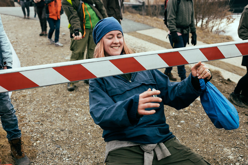 Lea (Norway) having fun while passing some obstacles.
