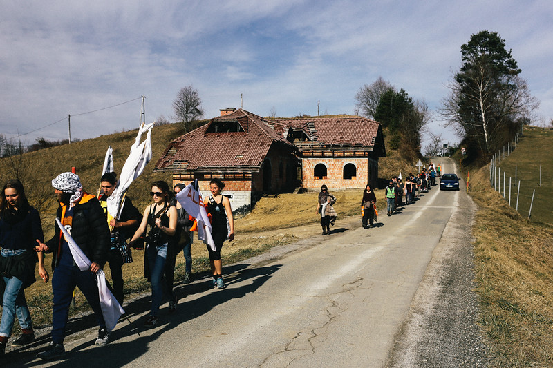 Marching in Slovenia.