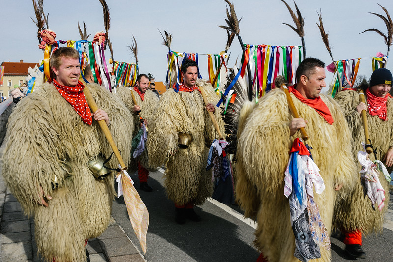 Carnival party in the city of Ptuj.