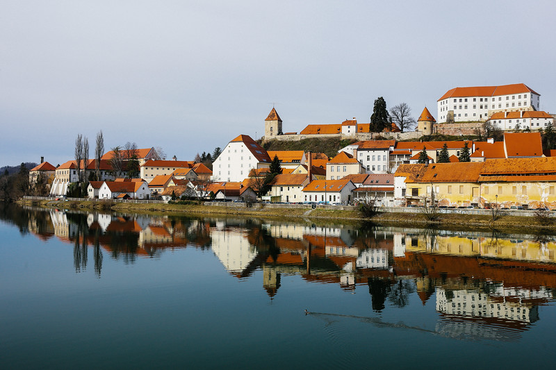 The medieval city of Ptuj, Slovenia.