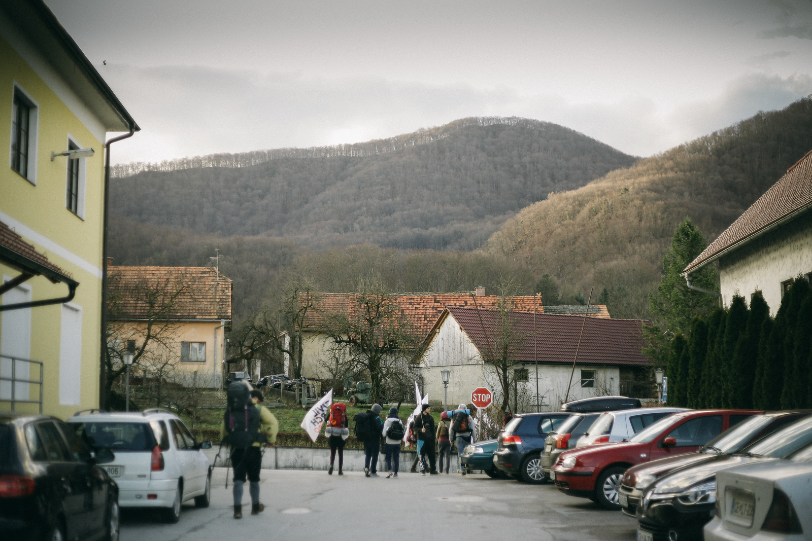 Marching group is leaving in the eraly morning, last meters in Slovenia.