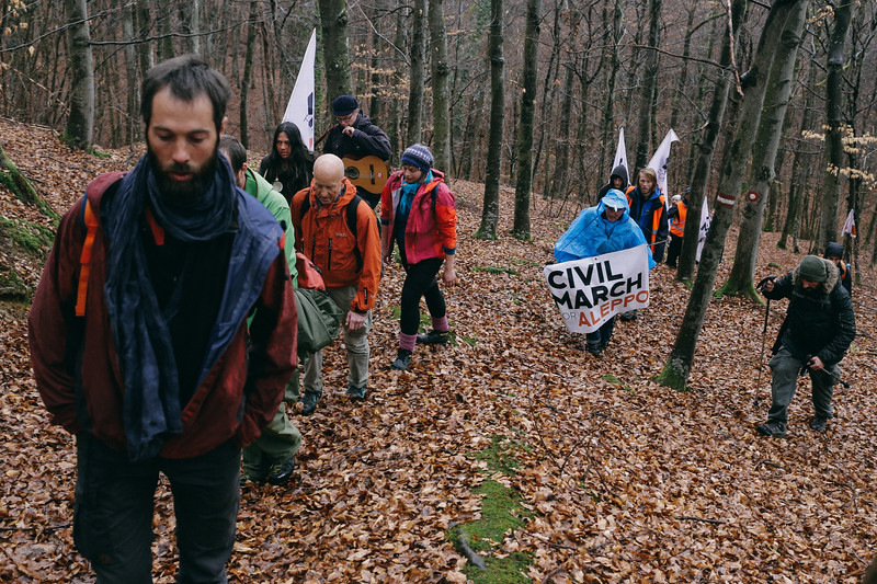 Marching up through the hills to Zagreb.
