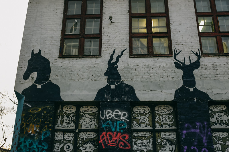 """Evil"" accommodation spot - a squat in Zagreb, Croatia."