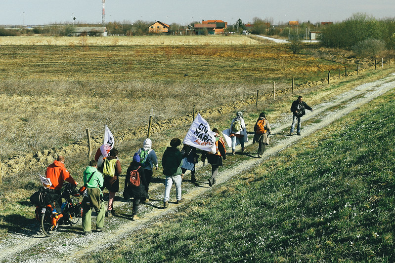Marching to Busevac, Croatia.