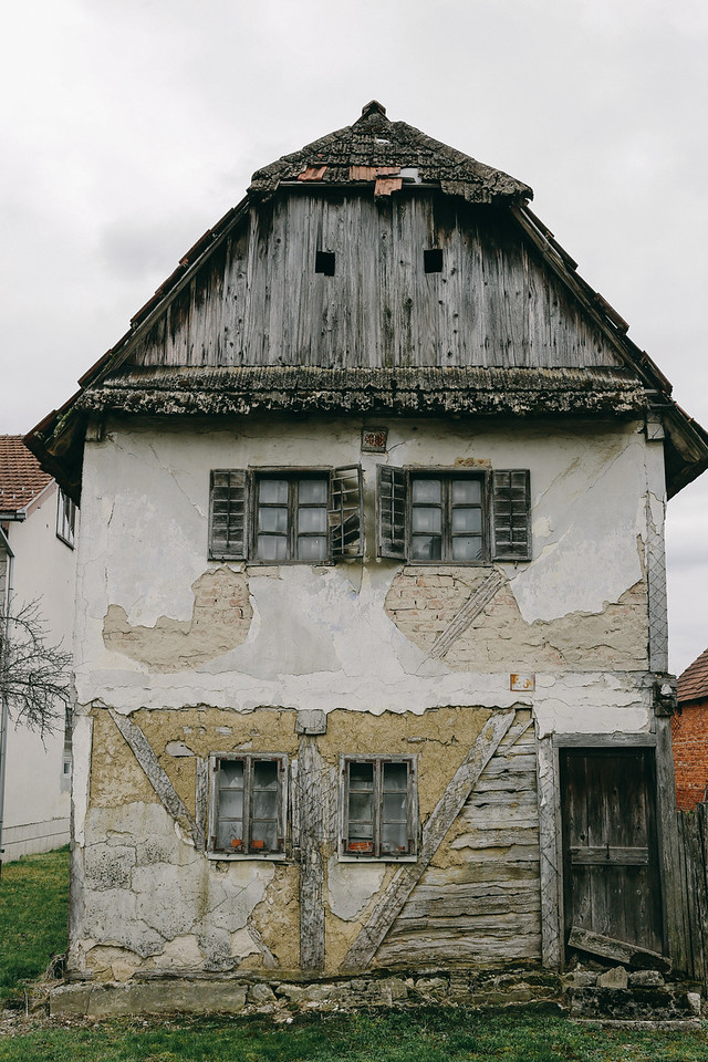 Destroyed house in Hrvatska Dubica, from war 1991-1995.