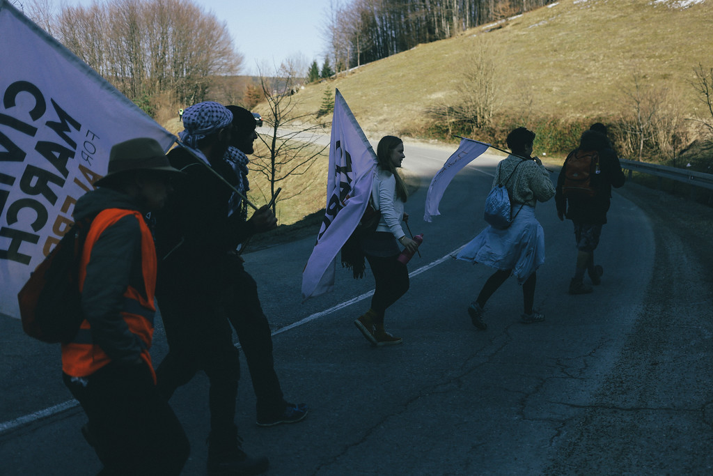 CMFA marching towards Knezevo. Bosnia and Herzegovina.