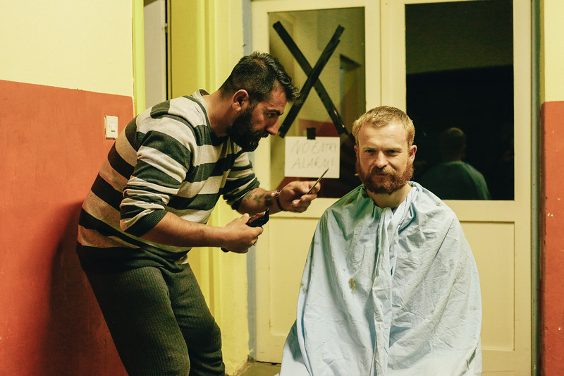 Kaja (Germany), a professional hairdresser was very busy in the evenings. Jan (Poland), co-founder of the CMFA is having a new haircut. Vitovlj, Bosnia and Herzegovina.