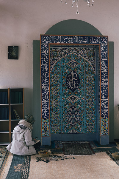 Ismahan in the mosque, Vitovlje, Bosnia and Herzegovina.
