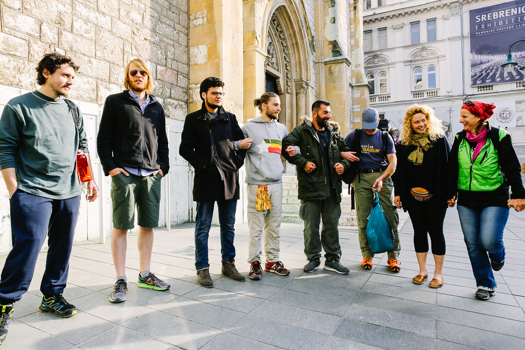 CMFA circle at the cathedral in Sarajevo, Bosnia and Herzegovina.