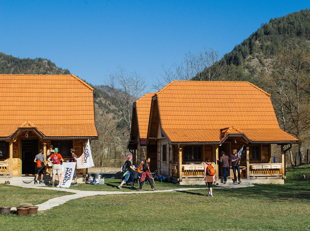 Reached the accommodation spot in Apartment Mateja, Mokra Gora. This was one of the most comfortable spots on the whole march - separate beds, clean bathrooms,