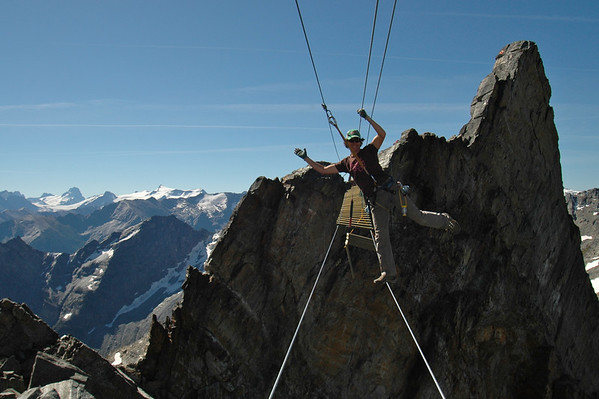 Building the Via Ferrata on Nimbus Tower