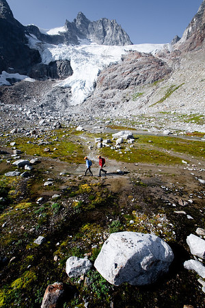 Below Granite Glacier with Sugarplum Spire towering above.