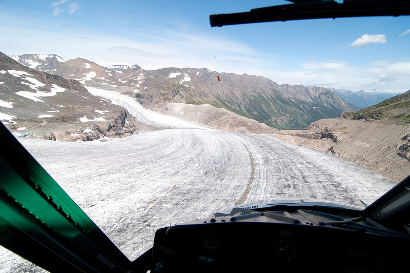 Flying down the Glacier