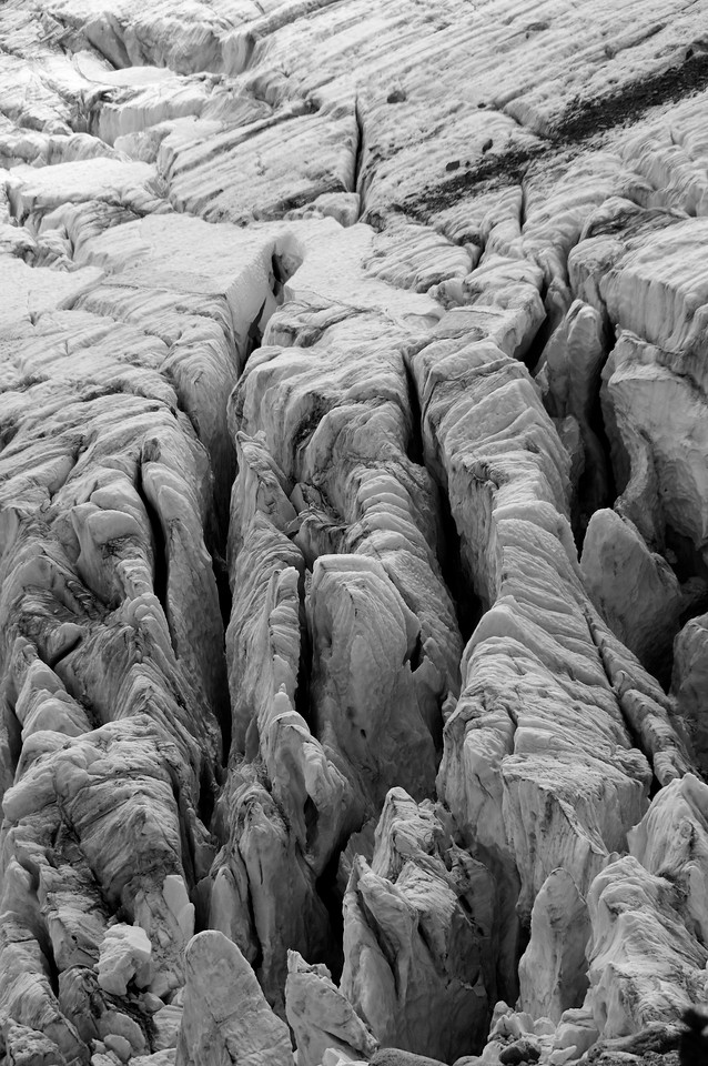Seracs and Crevasses