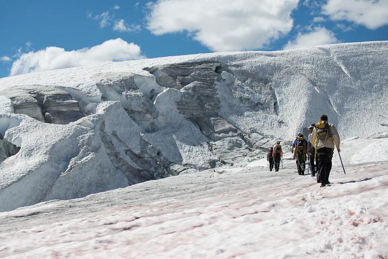 Pyramid glacier walk