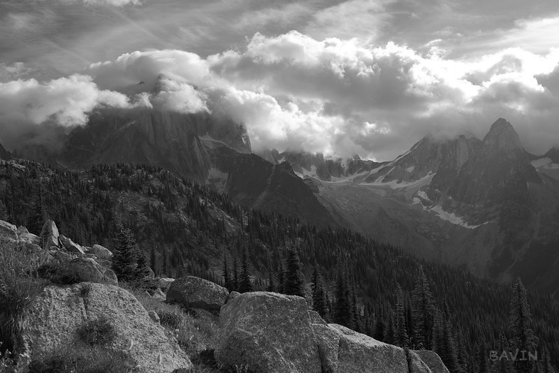 Clouds on the Howsers from Marmot Basin