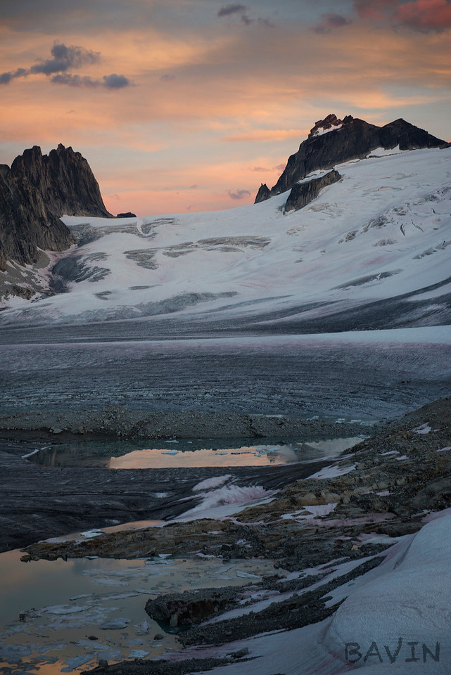 Sunset on the Vowell from Bill's Pass