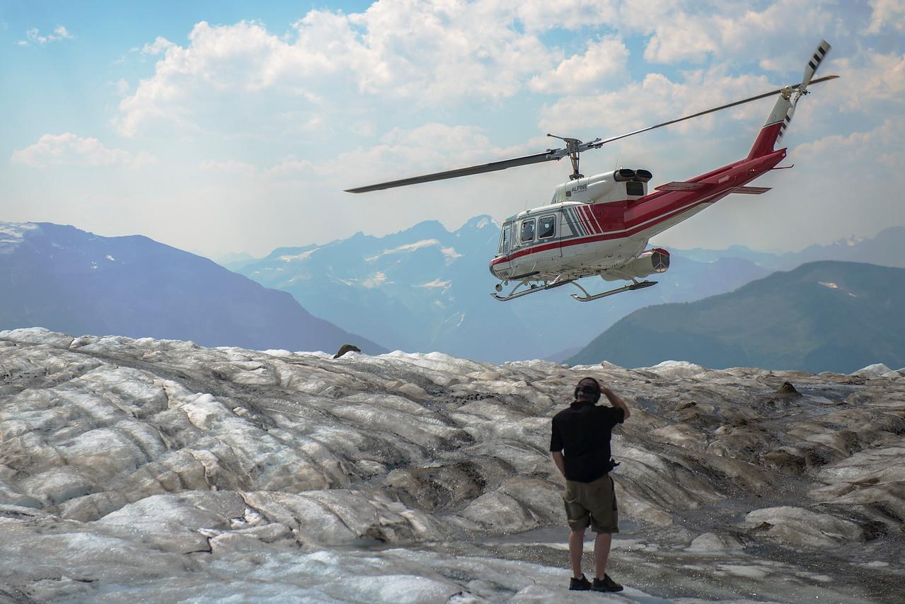 Jimmy on Kickoff Glacier