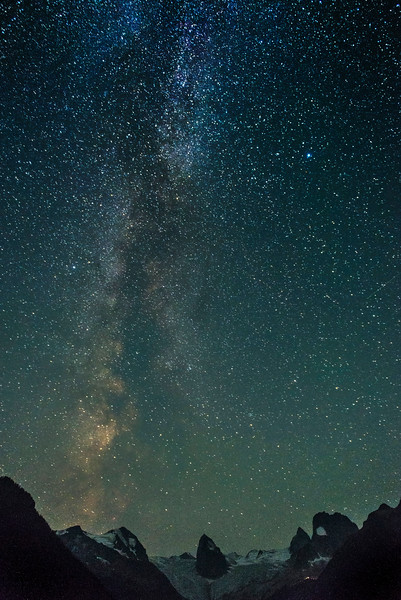 Milky Way over the Bugaboos