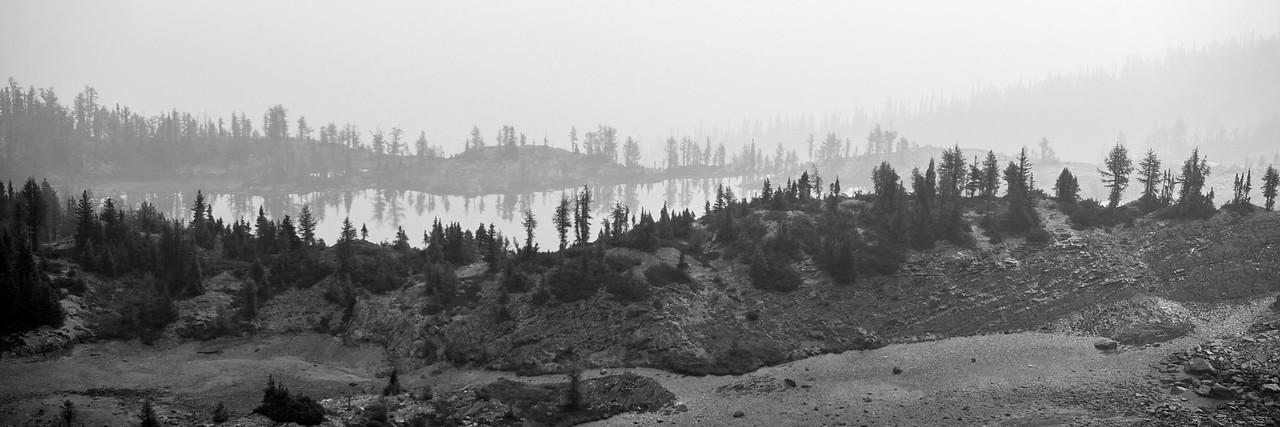 Smokey views of Pocket Lakes