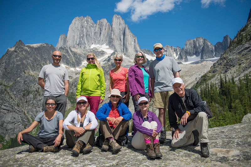 Group 1 on the Kickoff Rock Slab