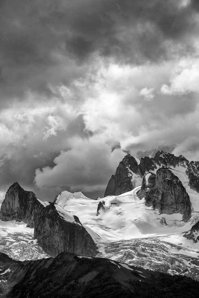Storm clouds over the Bugaboos