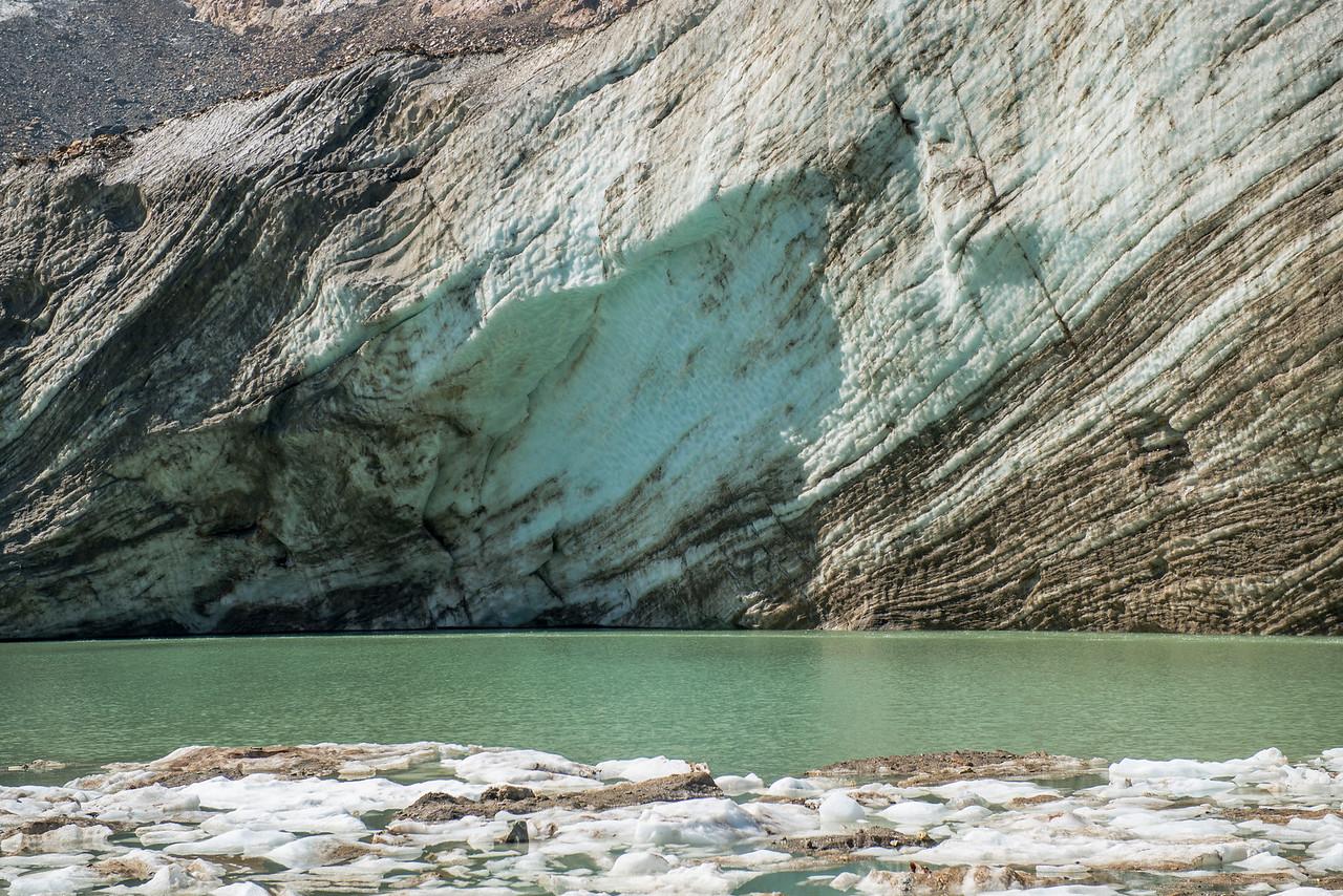 Glacier Ice under Mount Chapman