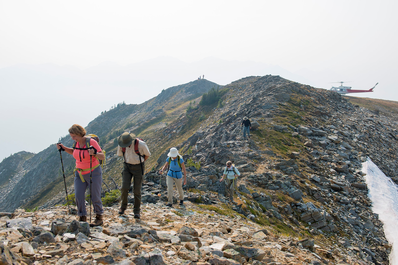 Hiking up to Nagle Peak